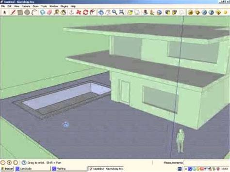 Sketchup tutorial 1- Simple house modeling - YouTube