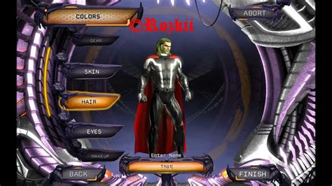 [DC Universe Online] Character creation - Thor - YouTube