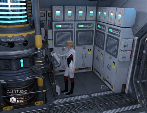Sci-fi Engine Room A | 3D Models for Poser and Daz Studio