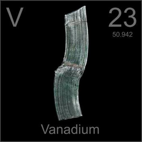 Pictures, stories, and facts about the element Vanadium in