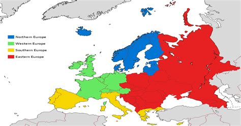 European sub-regions according to EuroVoc, the official