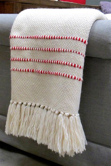 Best Throw Blanket - Red Striped Throw | Homelosophy