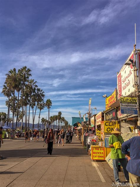 Day Trip to Venice Beach, walking along the Beach in