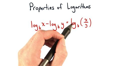 Properties of Logarithms Power Rule and Subtracting Logs