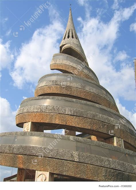 African Urban Modern Architecture With Spiral, Cameroon