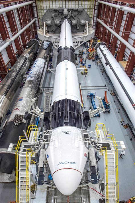 SpaceX Crew Dragon Capsule, Falcon 9 Rocket Arrives at