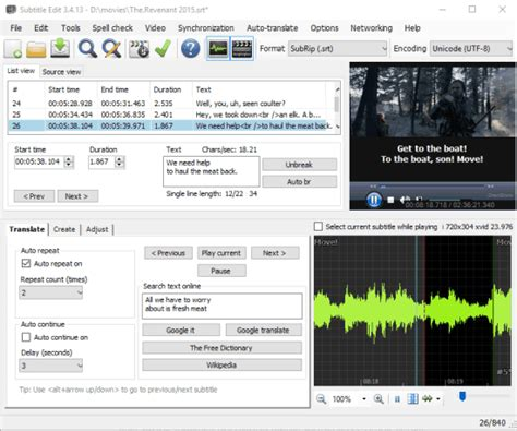5 Free Subtitle Editor Software for Windows 10