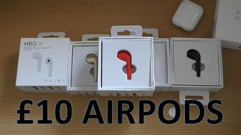 £10 FAKE WIRELESS APPLE AIRPODS UNBOXING REVIEW: HBQ i7