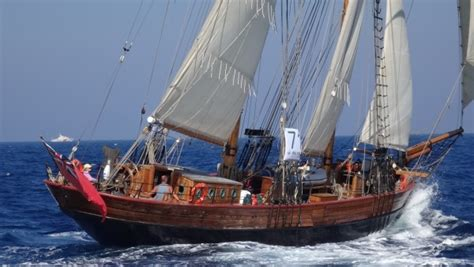 Topsail Schooner beautiful wooden sailing ship For Sale