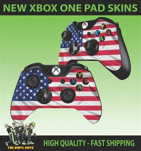 XBOX ONE CONTROLLER PAD STICKER USA FLAG STARS AND STRIPES